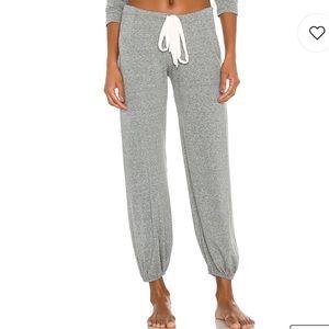 Eberjey size L gray drawstring waist pant NWOT